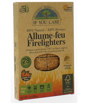 If You Care Allume feu 100% naturel 28 cubes