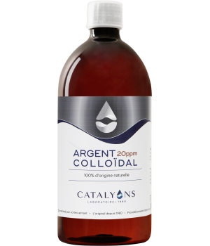 catalyons Argent colloïdal Oligo élément 20 PPM Catalyons 1000ml