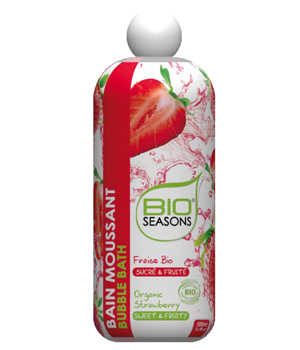 Bio Seasons Bain moussant Fraise 500ml
