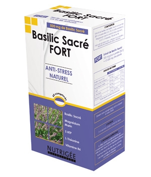 Nutrigee Basilic Sacré fort Anti stress naturel 30 comprimés