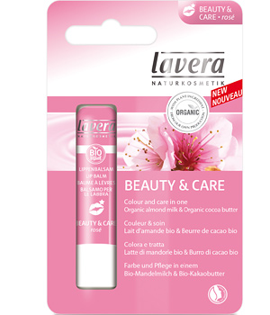 Lavera Baume à lèvres Amande Beurre de Cacao Beauty and Care Rosé 4.5g