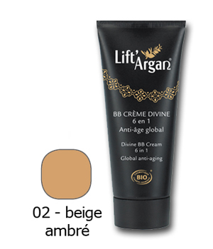 Lift' Argan BB crème divine 6 en 1 anti âge global beige ambré 40ml