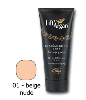 Lift' Argan BB crème divine 6 en 1 anti âge global beige nude 40ml