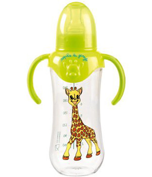 Vulli Biberon 'Soft and Fun' Sophie la girafe sans Bisphénol A 250ml