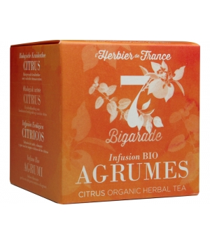 Herbier De France Bigarade infusion bio Agrumes 15 mousselines 22.5g