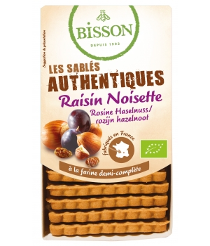 Bisson Biscuits sablés les authentiques Raisin noisette 175g