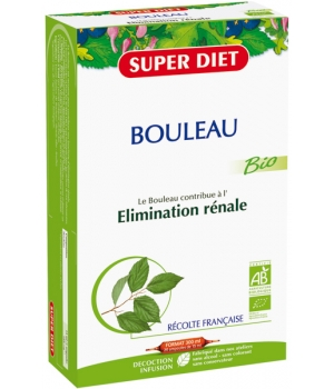 Super Diet Bouleau Bio Drainage Elimination 20 ampoules de 15ml soit 300ml