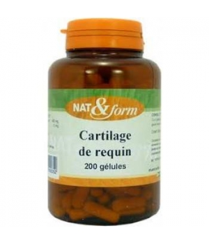 Nat et Form Cartilage de requin 120 gélules 57g