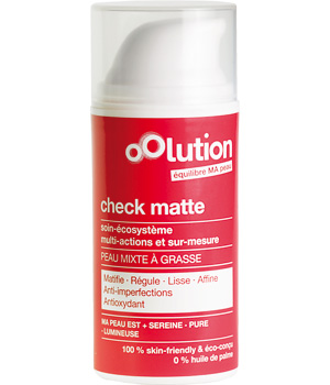 Oolution Check Matte Soin Visage Matifiant Regulateur 30ml