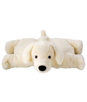 Aroma Home Chien coussin chauffant Hot Dog Labrador avec insert HE lavande