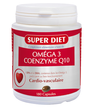 SuperDiet Co enzyme Q10 + Oméga 3   180 capsules