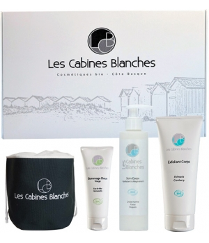 Les Cabines Blanches Coffret gommage 75ml + soin corps 200ml + exfoliant corps 200ml