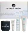 Cosmétique Bio Les Cabines Blanches Coffret gommage 75ml + soin corps 200ml + exfoliant corps 200ml