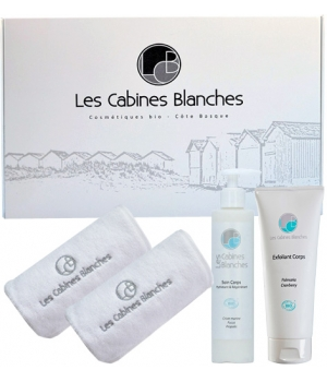 Les Cabines Blanches Coffret soin corps 200ml + Exfoliant corps 200ml
