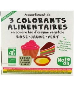 Natali Colorants alimentaires 3x30g