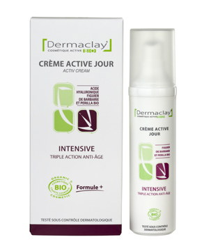 Dermaclay  Crème active jour Intensive Triple action Flacon airless 50ml