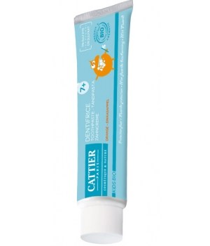 Cattier Dentifrice enfants 7ans et + protection fluor goût orange 50ml