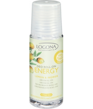 Logona Déodorant Roll on Energy Citron et Gimgembre 50ml