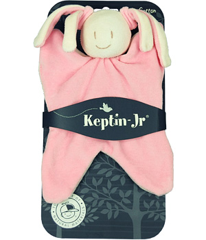 Keptin jr Doudou Lapin rose Girly Pink 25 cm