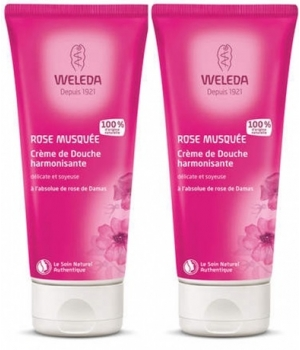 Weleda DUO: 2 creamy Wild Rose shower gels 400ml