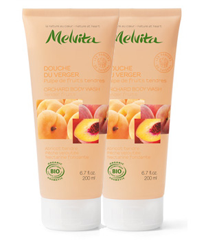 Melvita Duo Douche du verger Pulpe de fruits tendres 2 X 200ml