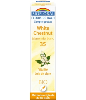 Biofloral Elixir White Chesnut n° 35 Marronnier blanc 20ml