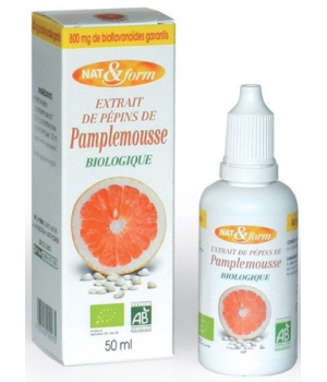 Nat et Form Extrait de pépins de pamplemousse 800mg L'antibiotique naturel 50ml