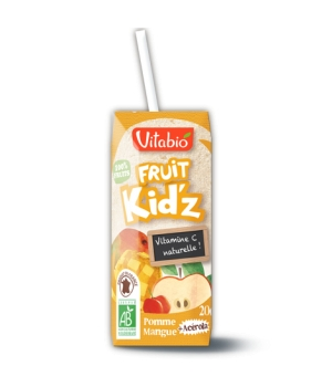 Vitabio Fruit Kid'z Cocktail Pomme mangue 3 briquettes de 20cl