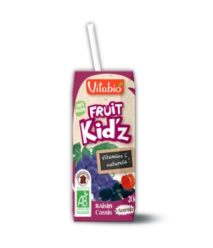 Kalibio Fruit Kid'z Cocktail Pommes Raisin Tetra 3 briquettes de 20cl