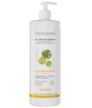 Dermaclay  Gel bain douche familial Hydratant Relaxant 1L