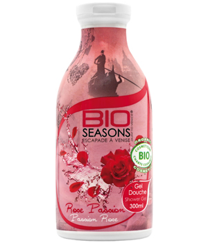 Bio Seasons Gel douche Escapade à Venise Rose Passion 300ml