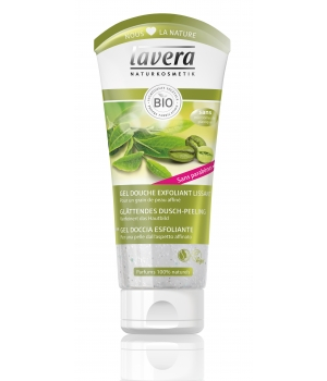 Lavera Gel Douche Exfoliant Lissant Café Romarin Acide Hyaluronique 200ml