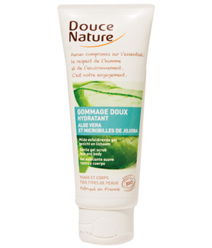gommage doux visage a l aloe vera douce nature 75ml. Black Bedroom Furniture Sets. Home Design Ideas