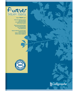 Ecoburo Grand cahier Forever piqué Seyes grands carreaux A4 96 pages 21x29.7cm