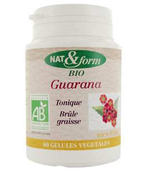 Nat et Form Guarana 80 gélules 250mg