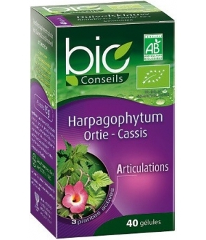 Bio Conseils Harpagophytum Ortie Cassis 40 gélules