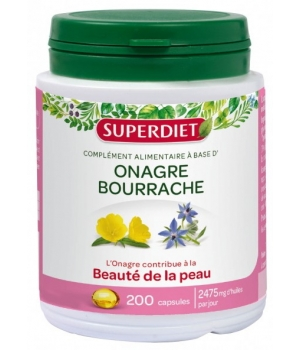 Super Diet Huile d'Onagre Bourrache 200 capsules