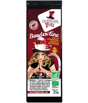 Le Chapelier Fou Infusion Borderline Rooibos Canneberge, Orange et Mandarine Bio 25g