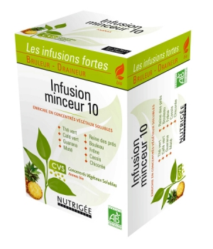 Nutrigee Infusion Minceur 10 plantes 30 sachets