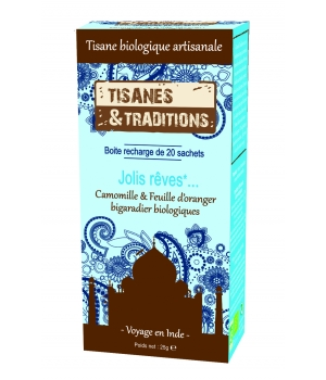 Tisanes Et Traditions Jolis Rêves... Recharge (Camomille Feuille d'Oranger bigaradier) 20 sachets