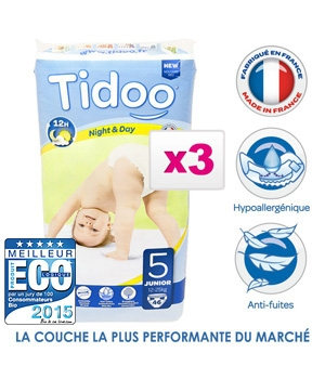 Tidoo Jumbo de 3 x 46 Couches JUNIOR (T5)   12/25kg