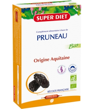 Super Diet Jus de Pruneau Bio 20 Ampoules buvables de 15ml