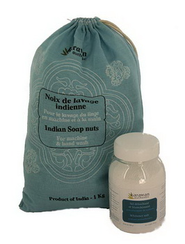 Karawan Kit Noix de lavage 1kg + Sel détachant 500g