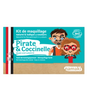 Namaki Kit maquillage 3 couleurs Pirate et Coccinelle 35g