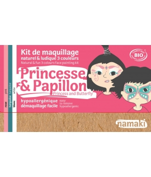 Namaki Kit maquillage 3 couleurs Princesse et Papillon 35g