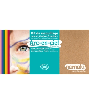 Namaki Kit maquillage 8 couleurs Arc en ciel 125g