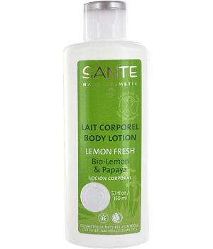 Sante Lait corporel Lemon Fresh Citron et Papaye 150ml