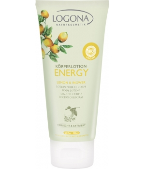 Logona Lait corps Energy Citron et Gingembre 200ml