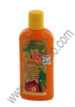 Logona Kids Shampoing + Gel douche extra fruité 200ml