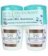 Cosmetique bio pour hommes Sanoflore Lot de 2 Déodorants Roll on 24h sans concession Pureté de Lin